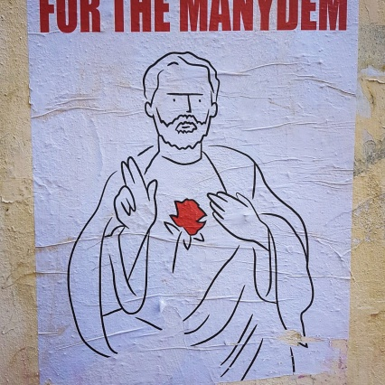 Jeremy Corbyn as the Messiah of the people; UK General Election 2017