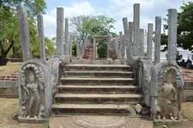 Impressive temple entrance